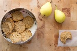galletas de avena, pera y coco