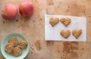 Galletas de manzana, avena y canela