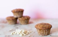 Muffins con piñones y pasas