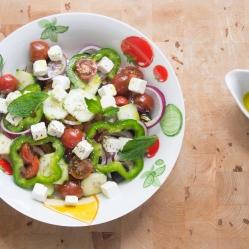 ensalada de garbanzos a la griega